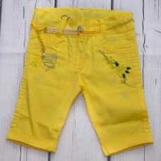 Капри WIGGLE 307 желтые с ремнём