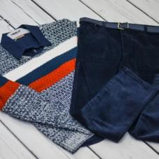 Комплект Fornello(свитер, рубашка, брюки) 2232(меланж)