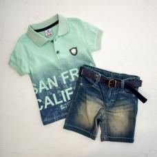 Комплект(поло,шорти джинс з рем.)STARLET2955