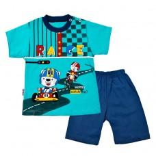 Комплект гонки  футболка і шорти 2019 бірюзовий
