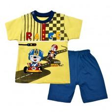 Комплект гонки  футболка і шорти 2019 жовтий