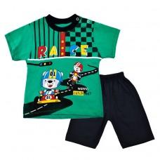 Комплект гонки  футболка і шорти 2019 зелений