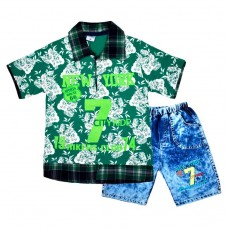 Комплект 7 поло і шорти 215 зелений