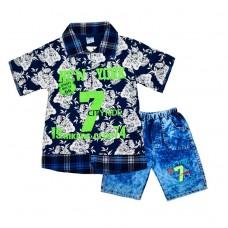 Комплект 7 поло і шорти 215 темно-синій