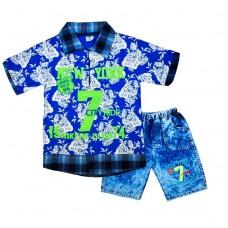 Комплект 7 поло і шорти 215 синій