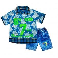Комплект 7 поло і шорти 215 блакитний