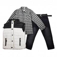 Комплект (жилет, рубашка, джинсы) 259