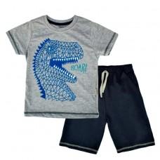 Комплект (футболка и шорты) Mаcca Boy  7103 д/х серый