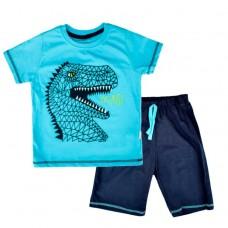 Комплект (футболка и шорты) Mаcca Boy  7103 д/х голубой