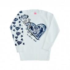 Детский свитер Harika 050-051 (удлиненный, рис. сердечки)