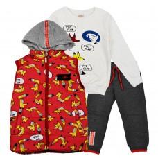 Комплект (жилетка , кофта, штани) 3086 червоний