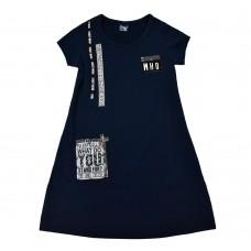 Сукня 18302 темно-синя