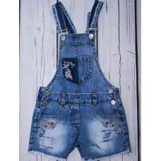 Напівкомбінезон джинсовий OVERDO 4927 блакитний