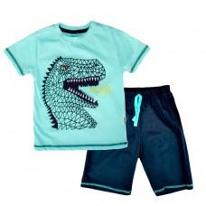 Комплект (футболка и шорты) Mаcca Boy  7103 д/х бирюзовый