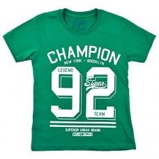 Футболка 9000 з цифорою 92 зелена