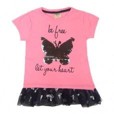 Туніка  рожева 9040 метелик