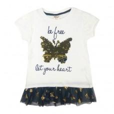 Туніка біла 9040 метелик