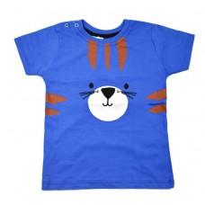 Футболка синя 9075 з котом