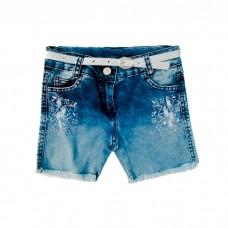 Шорты джинсовые WIGGLE 311 д/д синие с ремнём