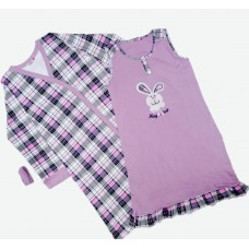 Комплект (ночная рубашка, халат) MATILDA 7442-4 трикотаж