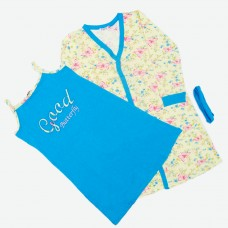 Комплект (нічна сорочка, халат) MATILDA 7443-3 трикотаж