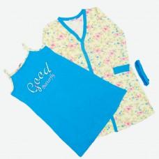 Комплект (ночная рубашка, халат) MATILDA 7443-3 трикотаж