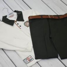 Комплект Fornello (свитер, брюки) 2218 оранжевый