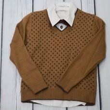 Комплект Fornello (свитер, рубашка, брюки) 2113 бежевый