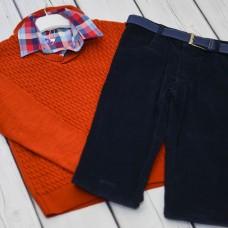Комплект Fornello (свитер, рубашка, брюки) 2231(оранж)
