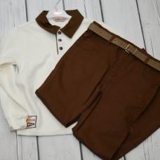 Комплект Fornello (свитер, брюки) 2218 серый
