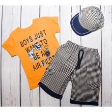 Комплект (шорти, футболка, кепка) Вaby bee Collex kids 3030