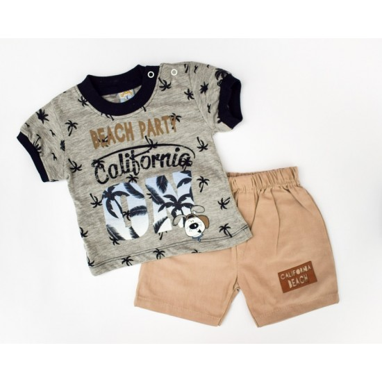 Комплект (футболка, шорты) Kismet 146 бежевый