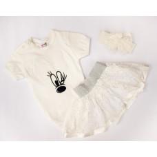 Комплект (боди, повязка, юбка) Bimbo 840