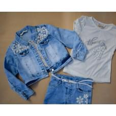 Комплект MOONSTAR 1231 3в1 (джинси + футболка + куртка)